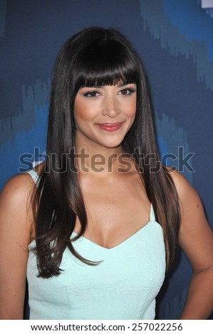 PASADENA, CA - JANUARY 17, 2015: Hannah Simone at the Fox Winter TCA 2015 All-Star Party at the Langham Huntington Hotel, Pasadena.  - stock photo