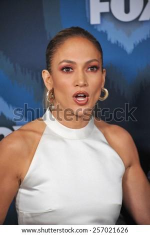 PASADENA, CA - JANUARY 17, 2015: Jennifer Lopez at the Fox Winter TCA 2015 All-Star Party at the Langham Huntington Hotel, Pasadena.  - stock photo