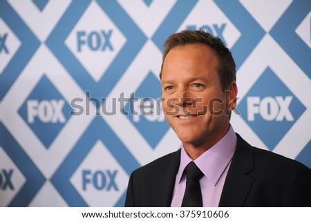 PASADENA, CA - JANUARY 13, 2014: Kiefer Sutherland at the Fox TCA All-Star Party at the Langham Huntington Hotel, Pasadena. - stock photo