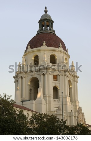 Pasadena City Hall, Pasadena, California, USA. - stock photo