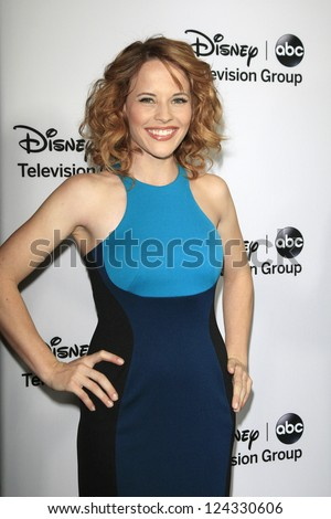 PASADENA - JAN 10: Katie Leclerc at the Disney ABC Television Group 2013 TCA Winter Press Tour at The Langham Huntington Hotel on January 10, 2013 in Pasadena, CA - stock photo