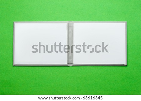 Pass isolated on green - stock photo