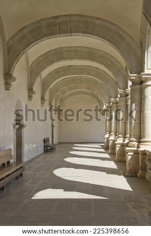 passage with arches and columns - stock photo