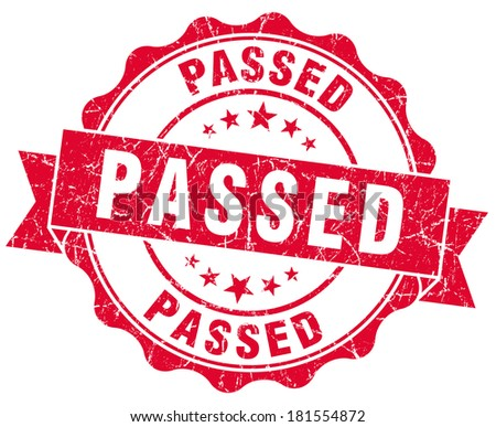 passed red grunge stamp - stock photo