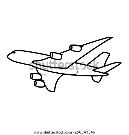 passenger airplane soaring - stock photo