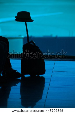 Passenger at  airport travel concept - stock photo