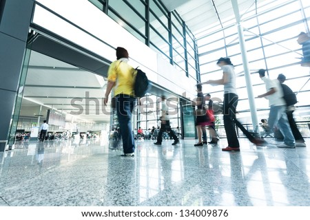 passenger in airport - stock photo
