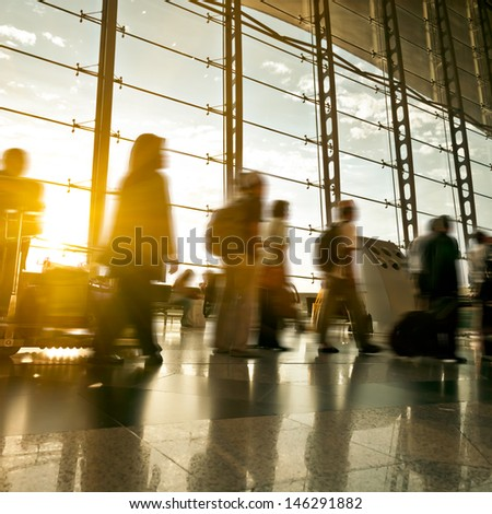 passenger In the Malaysia airport. - stock photo