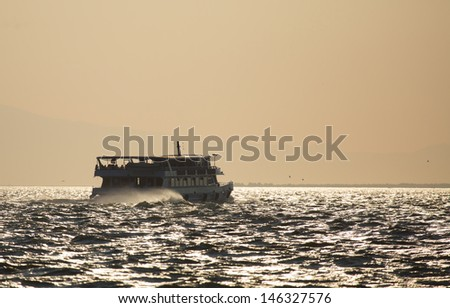Passenger ships in the izmir Gulf