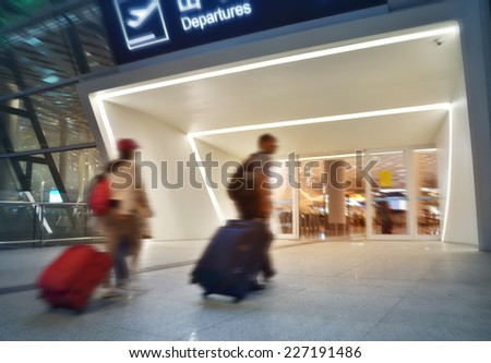Passengers at the airport of china Shenzhen - stock photo