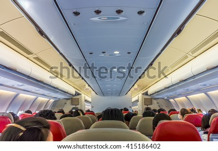 Passengers on board flight of commercial aircraft