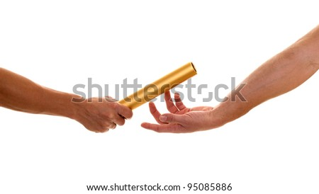 Passing the Baton - stock photo