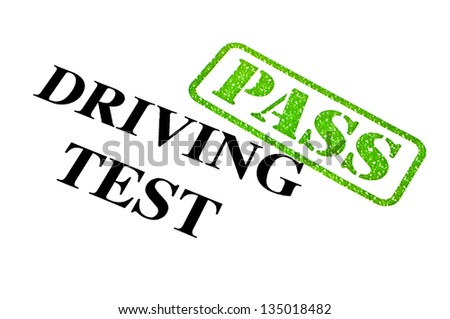 Passing your Driving Test. - stock photo