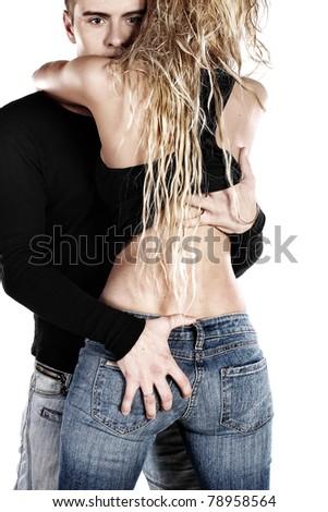 Passion couple - stock photo