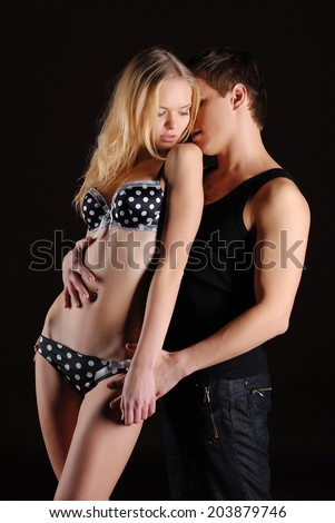 Passion couple in love - stock photo