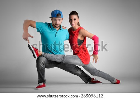 Passion dance couple - stock photo