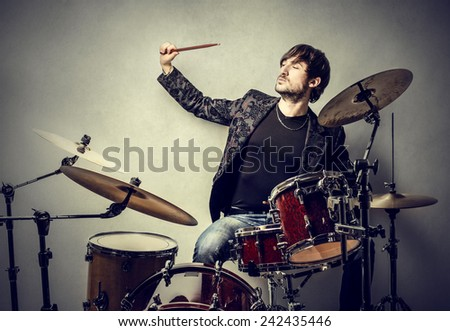 Passion for music  - stock photo