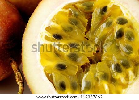 passion fruit - stock photo