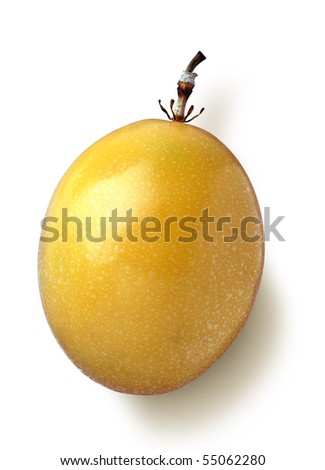 Passion fruit with cable - stock photo