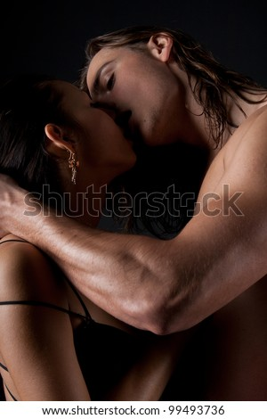 Passionate married couple having sex - stock photo