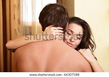 Passionate photo of a young couple - stock photo