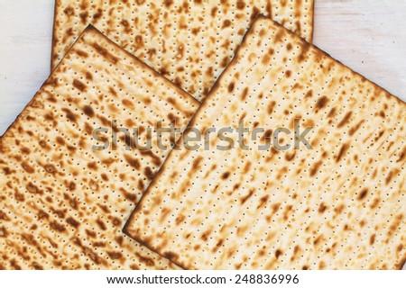 Passover matza  - stock photo