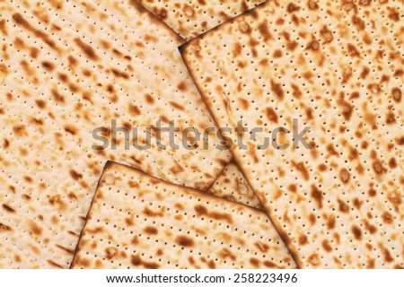 Passover matza background - stock photo