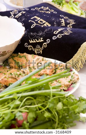 Passover seder - stock photo