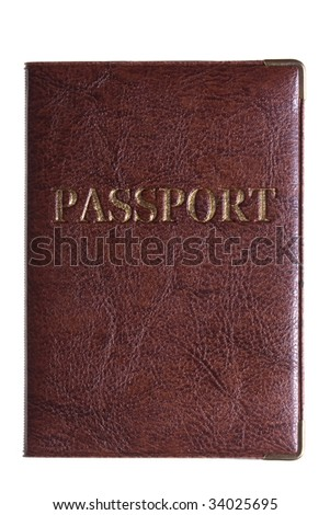 passport isolated on a white .