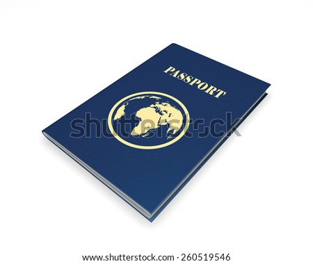 Passport, isolated on a white background