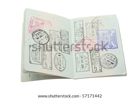 Passport on Isolated White Background - stock photo