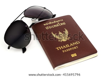 passport Thailand and glasses