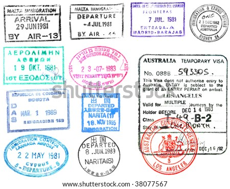 passport visas and stamps