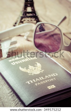 Passports for travel abroad. - stock photo