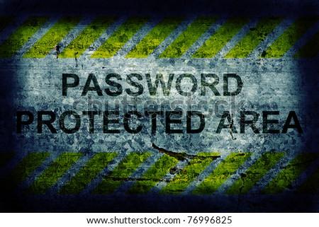 Password protection - stock photo
