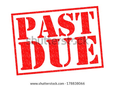 PAST DUE red Rubber Stamp over a white background. - stock photo