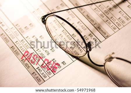 Past due statement. - stock photo