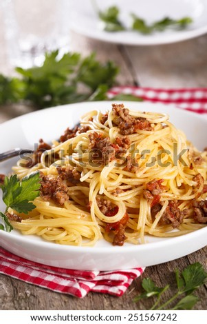 Pasta bolognese - stock photo