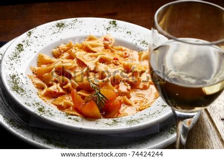 Pasta  bowtie - stock photo