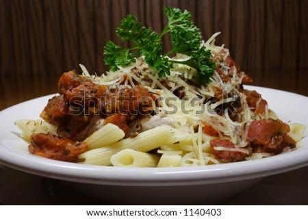Pasta dinner - stock photo