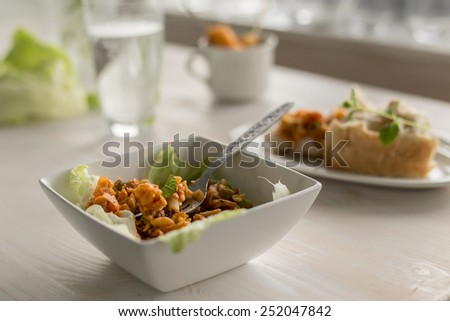 pasta fusilli - stock photo