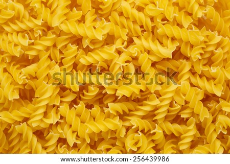 Pasta Fussili background - stock photo