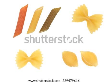 pasta isolated - stock photo