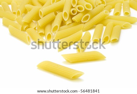 Pasta isolated over white background. - stock photo