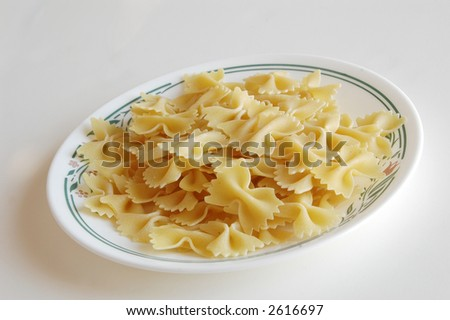pasta noodle on a plate - stock photo