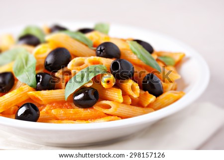 Pasta on a fork - stock photo