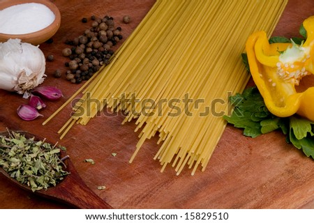 Pasta on the table - stock photo