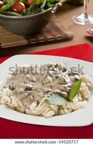 Pasta Sauce Funghi - stock photo