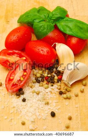 pasta sauce ingredients - stock photo