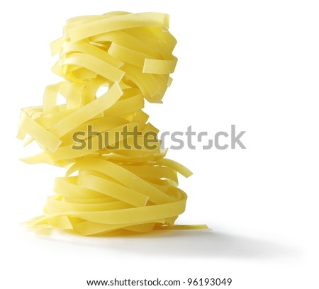 Pasta Tagliatelle - stock photo
